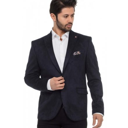 Cipo & Baxx divatos férfi zakó CJ206NAVY-BLUE