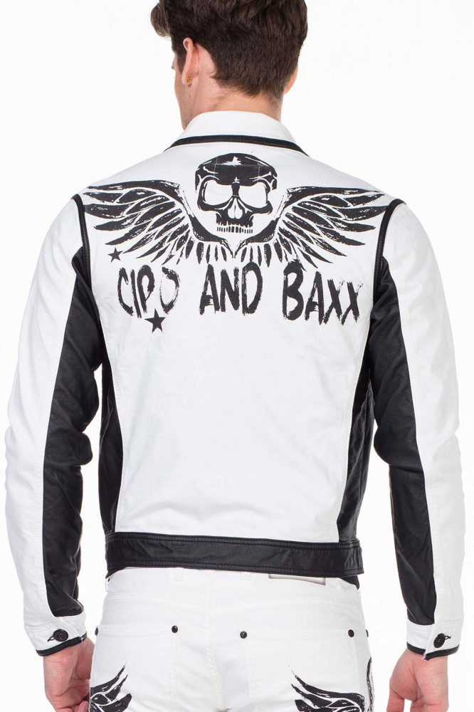 413d27c33d Cipo & Baxx divatos fehér farmer kabát CJ213 WHITE - Cipo & Baxx ...