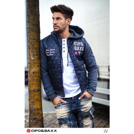 Cipo & Baxx divatos férfi kabát CJ216 FEKETE