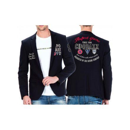 Cipo & Baxx divatos férfi zakó CJ223NAVYBLUE