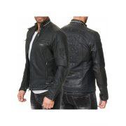 Cipo & Baxx divatos férfi műbőrkabát CJ228BLACK