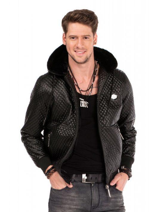 Cipo & Baxx fekete kabát CJ229