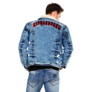Cipo & Baxx winter denim jacket CJ233 BLUE