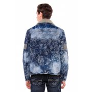 Cipo & Baxx divatos férfi farmerkabát CJ245BLUE