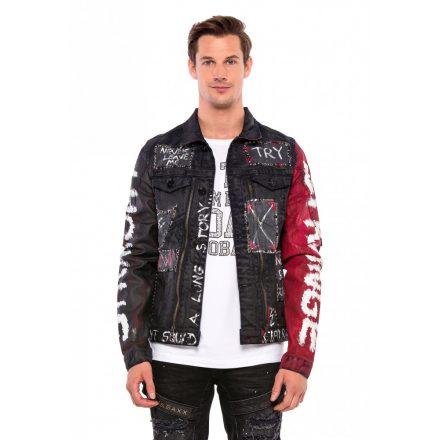 Cipo & Baxx divatos férfi farmerkabát CJ248BLACK