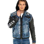 Cipo&Baxx divatos férfi farmerkabát CJ255BLUE