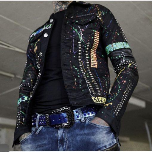 Cipo & Baxx férfi divatos farmerkabát CJ262 Black