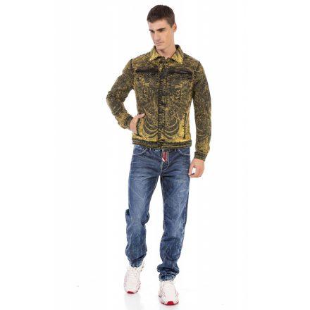 Cipo&baxx férfi átmeneti farmer dzseki CJ273 Yellow