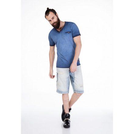 Cipo & Baxx divatos rövidnadrág CK126 LIGHT-BLUE
