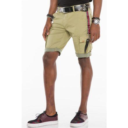 Cipo & Baxx divatos farmer rövidnadrág CK192 Khaki