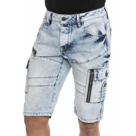 Cipo & Baxx divatos farmer rövidnadrág CK236 Ice Blue