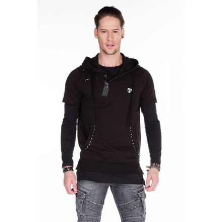 Cipo & Baxx divatos férfi pulóver CL236BLACK