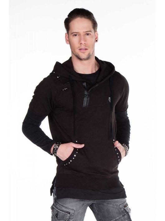 Cipo & Baxx black pulóver