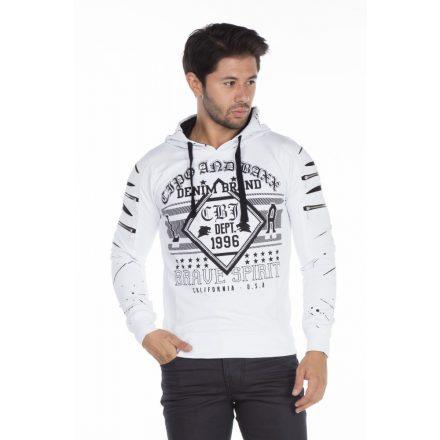 Cipo & Baxx fashionable white pullover
