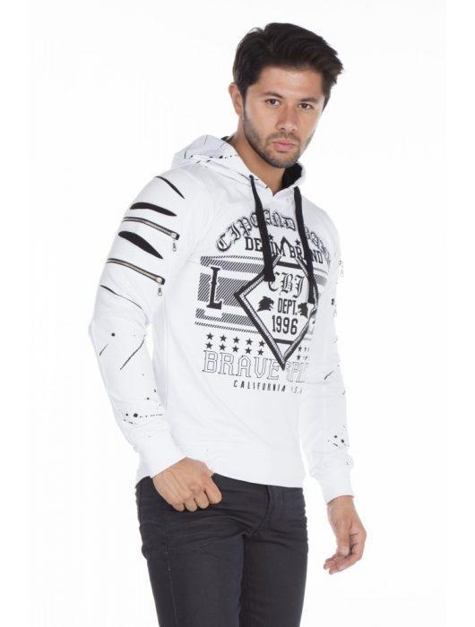 Cipo & Baxx divatos fehér pulóver Cipo & Baxx Márkabolt