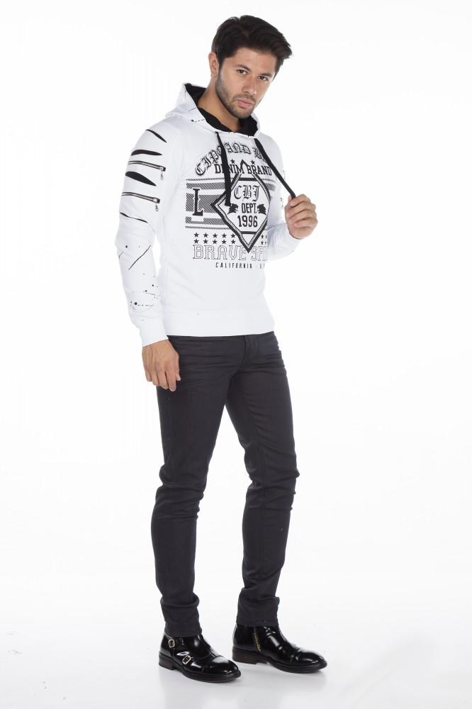 cipo baxx divatos fehér pulóver - Cipo Baxx Denim Brand - Kabátok ... b2d74d1fd3