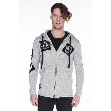 Cipo & Baxx gray pullover w/ zipper