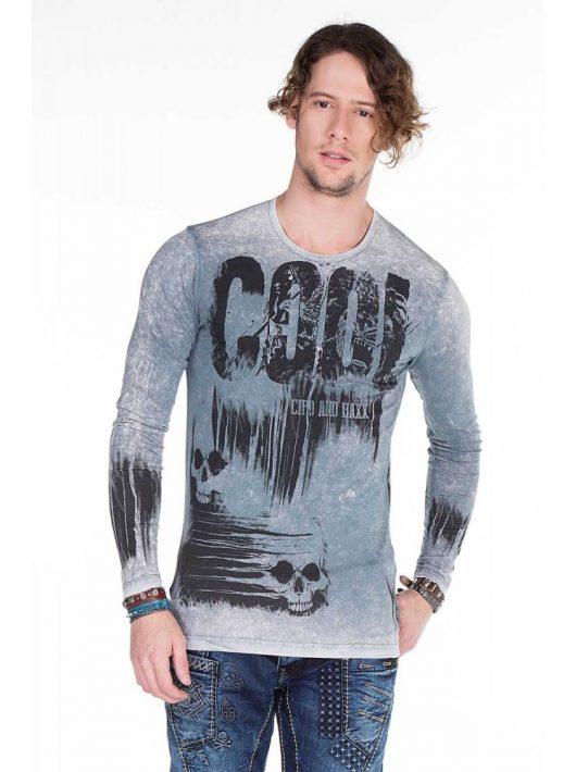 Cipo & Baxx divatos anthracite férfi pulóver