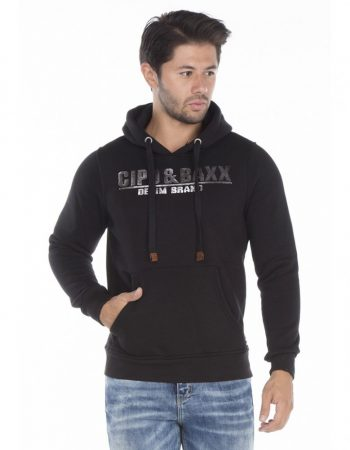 cipo baxx fekete kapucnis pulóver - Cipo Baxx Denim Brand - Kabátok ... b886b7ebd5