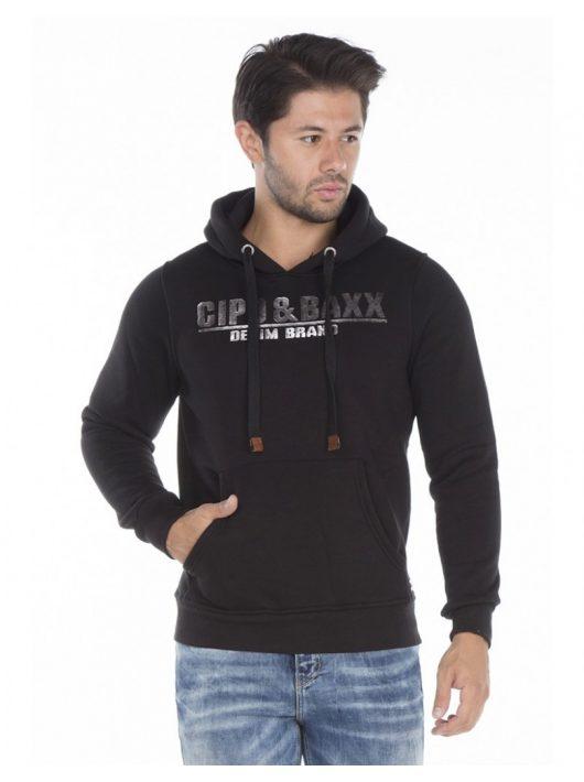 Cipo & Baxx fekete kapucnis pulóver