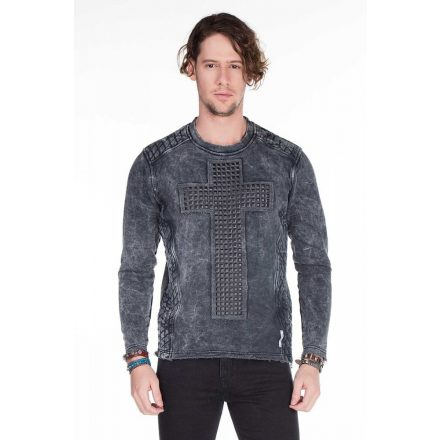 Cipo & Baxx fashionable men's hoodie CL266_ANTHRACITE