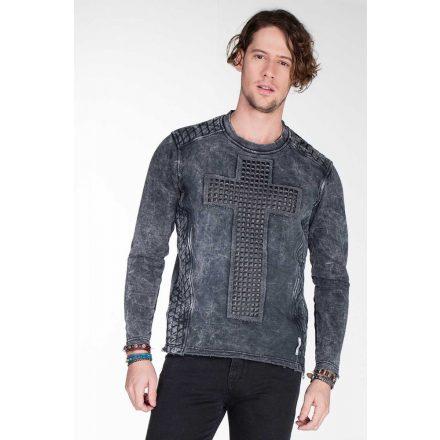 Cipo & Baxx divatos férfi kapucnis pulóver CL266 ANTHRACITE