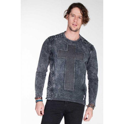 Cipo & Baxx divatos férfi kapucnis pulóver CL266_ANTHRACITE