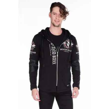 Cipo & Baxx divatos férfi pulóver CL281BLACK
