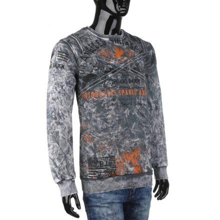 Cipo & Baxx divatos férfi pulóver CL284ANTHRACITE