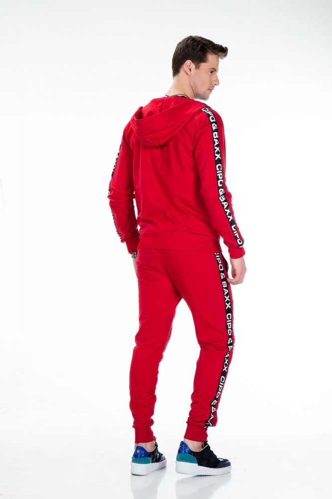 cipo baxx divatos melegítő felső CL292 RED - Cipo Baxx Denim Brand ... ee91d36727