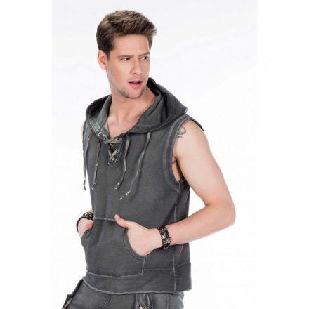 Cipo & Baxx fashionable sweatshirt CL298 ANTHRACITE