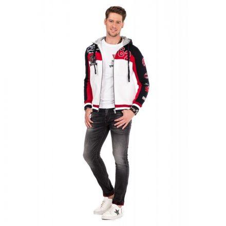 Cipo & Baxx divatos férfi kapucnis pulóver CL300-NAVYBLUE