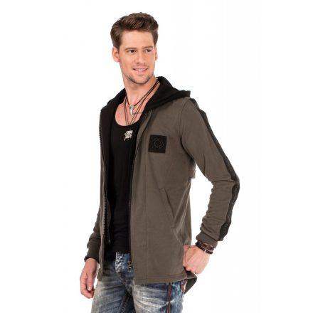 Cipo & Baxx fashionable men's hoodie CL305_KHAKI