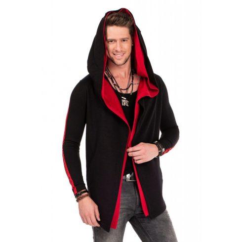 Cipo & Baxx divatos férfi kapucnis pulóver CL306_BLACK