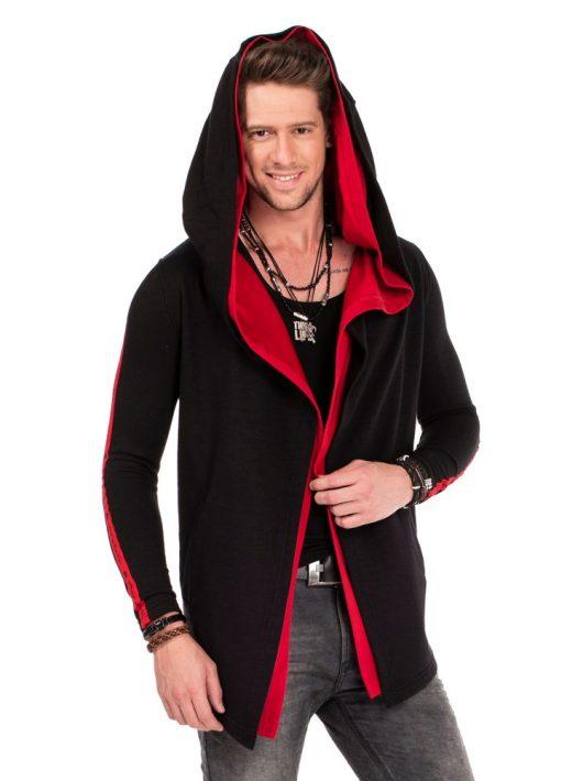 Cipo & Baxx divatos férfi kapucnis pulóver CL306 BLACK