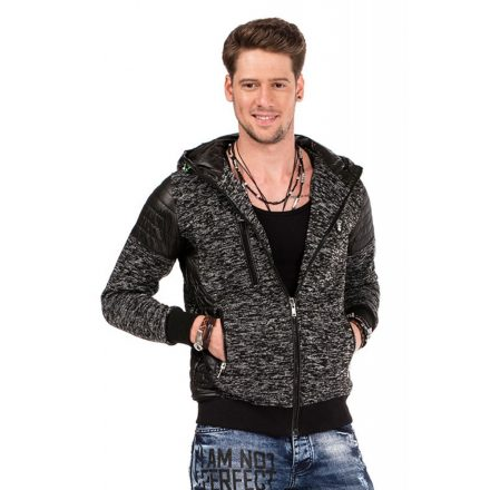 Cipo & Baxx fashionable men's knitted pullover CL310_BLACK