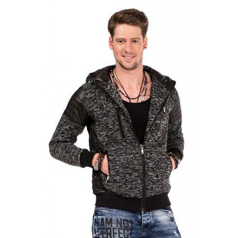 Cipo & Baxx divatos férfi kötött pulóver CL310 BLACK