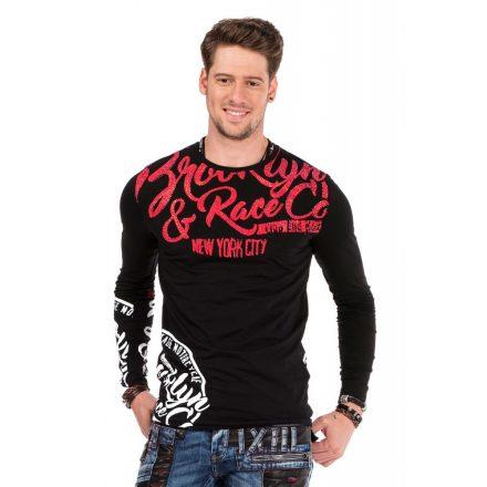 Cipo & Baxx black longsleeve shirt CL322