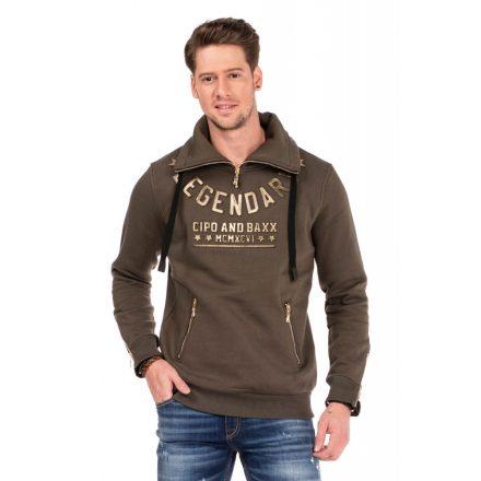 Cipo & Baxx fashionable men's hoodie CL324_KHAKI