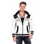 Cipo & Baxx divatos férfi kapucnis pulóver CL327 ECRU