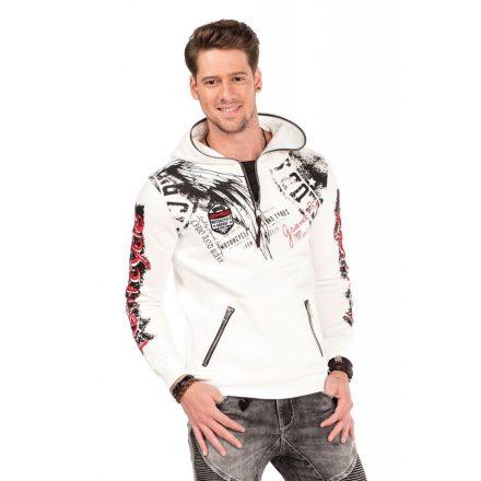 Cipo & Baxx fashionable men's hoodie CL334_ECRU