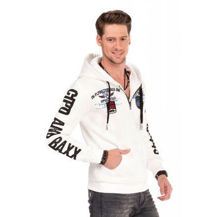 Cipo & Baxx fashionable men's hoodie CL337_ECRU