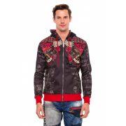 Cipo & Baxx divatos férfi pulóver CL365BLACK