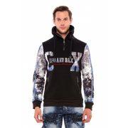 Cipo & Baxx férfi kapucnis pulóver CL366BLACK