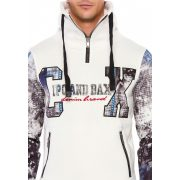 Cipo & Baxx férfi kapucnis pulóver CL366ECRU