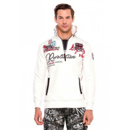 Cipo & Baxx divatos férfi pulóver CL377ECRU