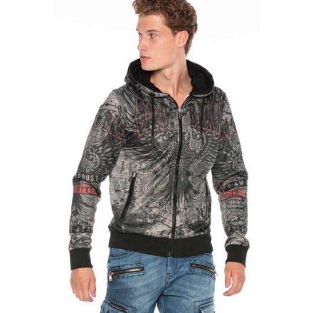 Cipo & baxx divatos férfi pulóver CL394ANTHRACITE