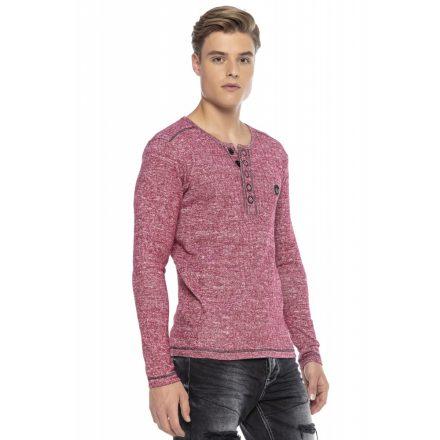 Cipo & Baxx divatos férfi  pulóver CL423RED