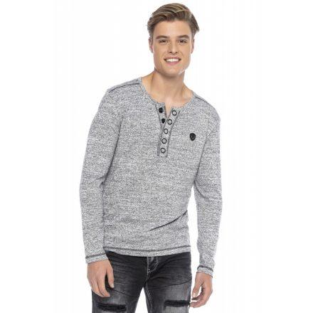 Cipo & Baxx divatos férfi  pulóver CL423ANTHRACITE