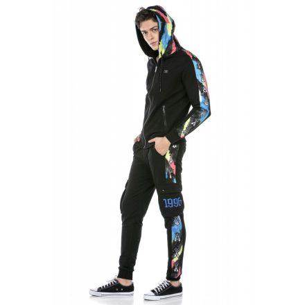 Cipo & Baxx divatos melegítő szett CLR137 Black